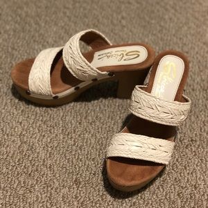 Sbicca White Women's Heels Size 7